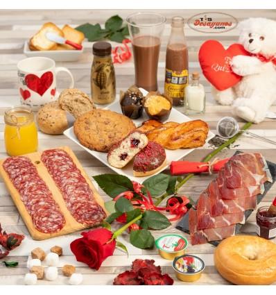 Desayuno a domicilio Especial San Valentín