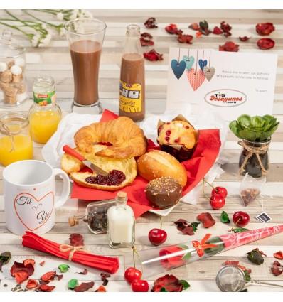 Desayuno a domicilio San Valentín