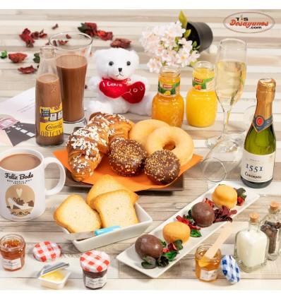 Desayuno a domicilio Feliz Boda