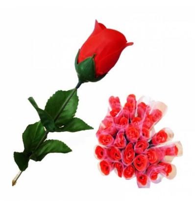 Rosa de pétalos de jabón