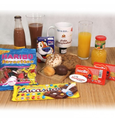Desayuno infantil Feliz Cumpleaños