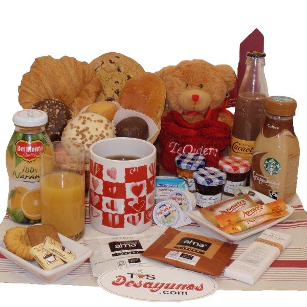 Desayuno romántico a domicilio