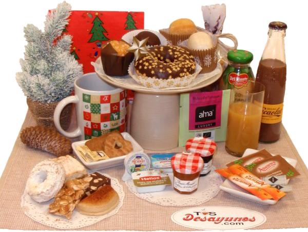 Desayuno navideño a domicilio