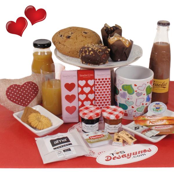 Desayuno a domicilio dulce San Valentín