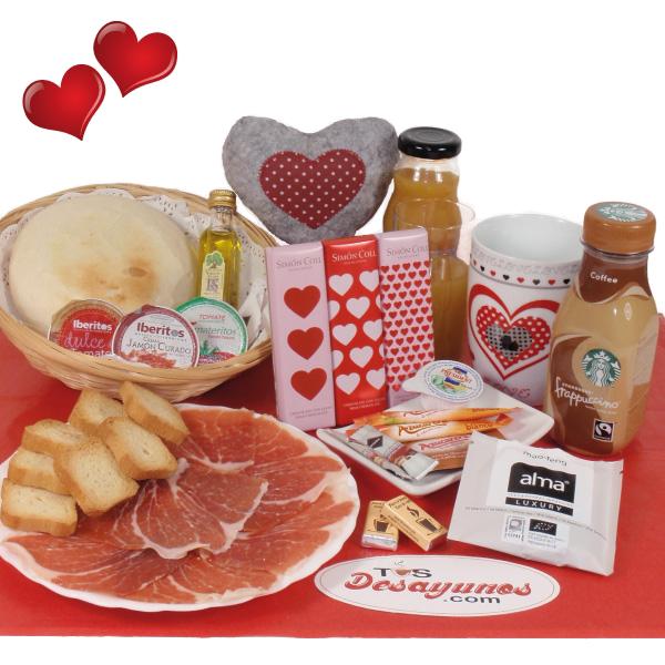 Desayuno a domicilio ibérico San Valentín