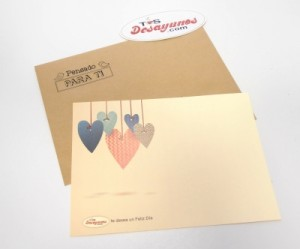Tarjeta personalizada San Valentín